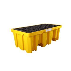 Pallet nhựa chống tràn 2 drum